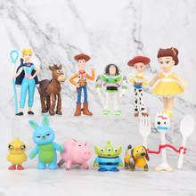 7/9/10/12/17 pz/set Toy Story 4 Buzz Lightyear Woody Jessie Forky Cane Slinky lotso Bullseye Cavallo Action Figure Giocattoli(China)