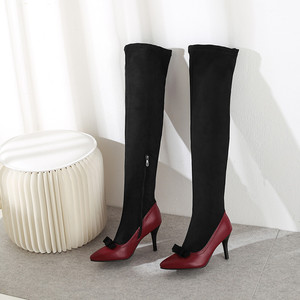 Image 5 - MORAZORA 2020 big size 48 women over the knee boots pointed toe autumn winter high heels party prom shoes women long  boots