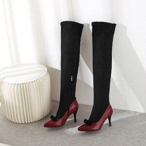 Image 5 - MORAZORA 2020 grande formato 48 donne sopra gli stivali al ginocchio punta a punta autunno inverno tacchi alti del partito scarpe da ballo delle donne stivali lunghi