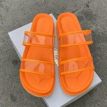 Ladies Sandals Shoes Paltform Transparent Candy-Color Summer Women Bottom Thick Plus-Size