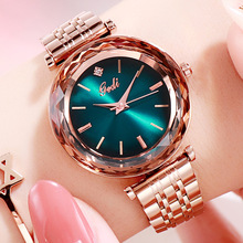 Top Luxury Watches Rose Stainless Steel Women Green Girls Casual Quartz Clock Elegant Lady Bracelet Wrist Watch Hours