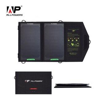 ALLPOWERS 5V 10W Solar cargador de energía Solar Panel Solar portátil al aire libre cargador tipo batería externa para teléfono inteligente