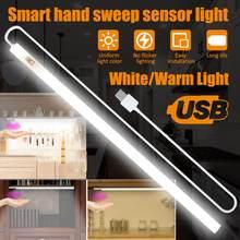 Luz conduzida do brilho de usb do sensor do interruptor da varredura da mão do diodo emissor de luz da tabela de cabeceira do armário 20/30/40cm do armário