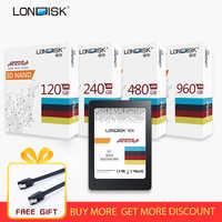 LONDISK SSD 120GB 240GB 480GB 960GB hdd sata3 2.5 pouces ssd interne ssd disque dur ordinateur disque dur SSD 240 gb pour ordinateur portable