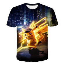 Baby T-shirt Film Pikachu 3D Pokemon Kids Kleding Japan Cartoon T-shirt Kleding Jongens Kleding Anime Harajuku Mode Streetwear(China)