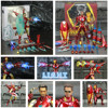 Iron Man Action Figure Mark 85 and Mark 50 Armors with LED Weapons 6inch 1
