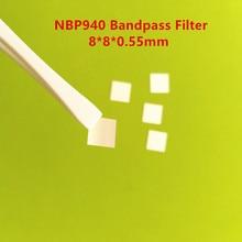 10 шт.! 940nm NBP940 8*8*0,55 мм ИК инфракрасный узкий ленточный фильтр Видимый светильник