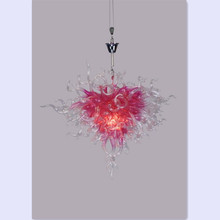 LR138 - Free Shipping Pink Heart Shaped Antique Art Deco Chandelier
