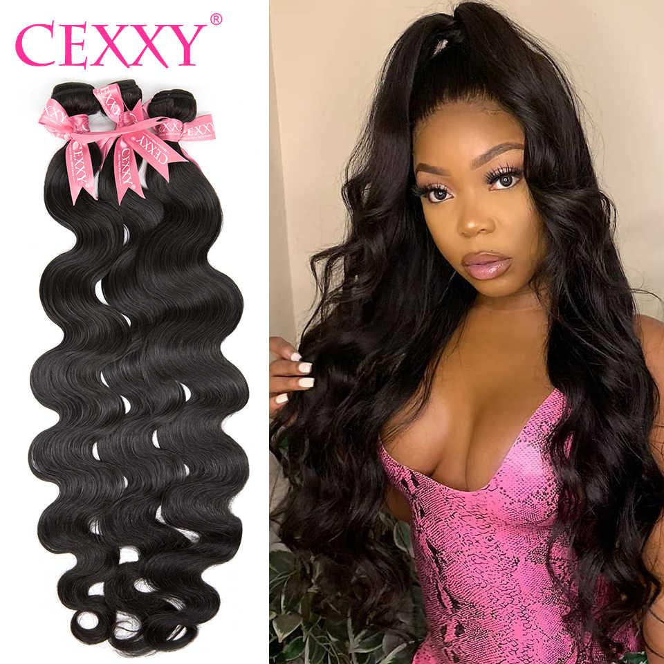 Paquetes de pelo humano CEXXY paquetes de pelo brasileño de la onda del cuerpo paquetes de pelo Remy 1 3 4 paquetes de extensiones de cabello de 40 pulgadas paquetes