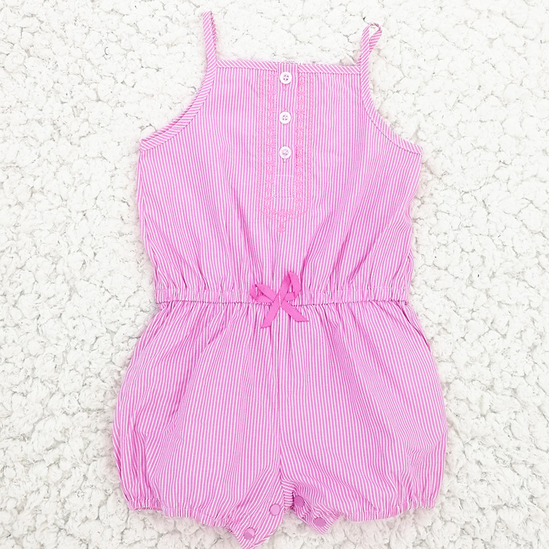 Creeper Rompers Newborn Baby Clothes Summer Toddler Baby Kid Girl Shoulder Suspender Pants Stripe Romper Jumpsuit Short Playsuit