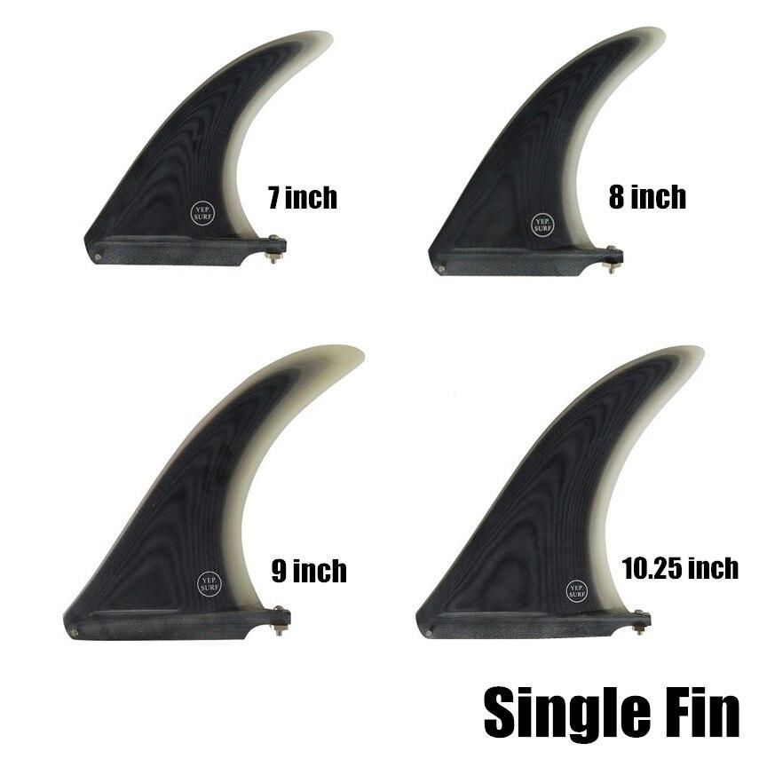 Paddle board Longboard Single Fins Surfboard Fin 7 8 9 10 25 Length Surfboard Center Fins