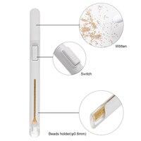 Стальные Бусины для ногтей, ручка для раскрашивания ногтей, инструмент для дизайна ногтей, маленькие шариковые поляризационные аксессуары ...