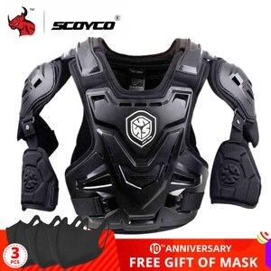 Image 1 - Scoyco ce armadura da motocicleta motocross peito volta protetor armadura colete motocicleta jaqueta de corrida proteção guarda corpo mx armadura