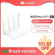 Brasil versão huawei wifi ax3 pro quatro amplificadores (aka ax3 quad core) wifi 6 + roteador sem fio wifi 5 ghz repetidor 3000 mbps nfc