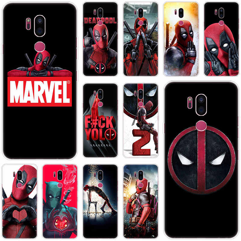 Marvel Hero Deadpool Fall Für LG G5 G6 Mini G7 G8 G8S V20 V30 V40 V50 ThinQ Q6 Q7 Q8 q9 Q60 W10 W30 Aristo 2 X Power 2 3 Abdeckung