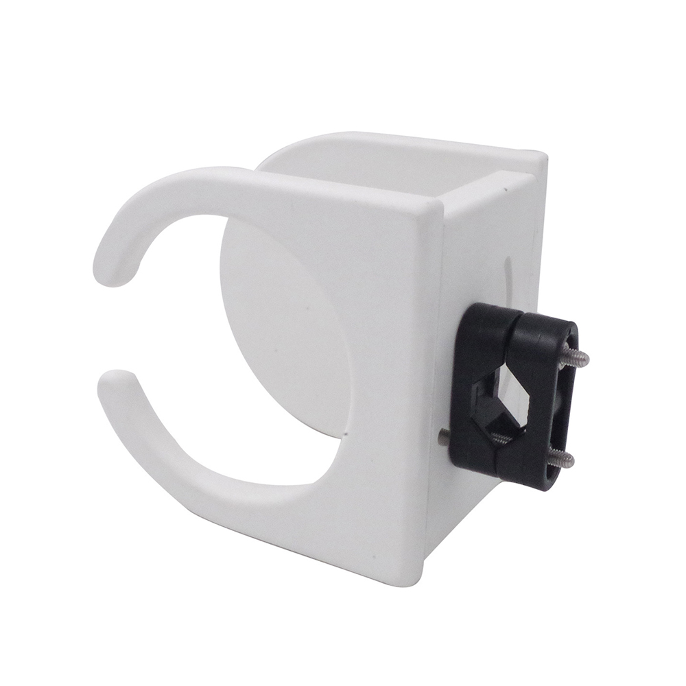 White Plastic Marine Boat Car RV Universal Drink Holder For Yacht Truck Accessories