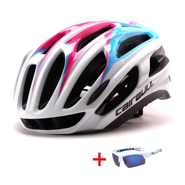 In-mold mountain bike estrada capacete da bicicleta com óculos de sol unisex esportes equitação ciclismo capacete ultraleve xc mtb bicicleta capacete 5