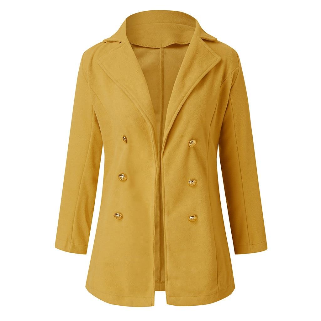 Large Size 5XL Women Wool Blend Warm Solid Color Coat Slim Female Retro Lapel Overcoat Autumn Winter Cashmere Outerwear warm