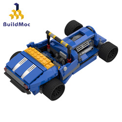 Stad Mechanische Klassieke Auto Model Bricks Schepper Technic Klassieke Convertible Racing Voertuig Bouwstenen Speelgoed Voor Kinderen