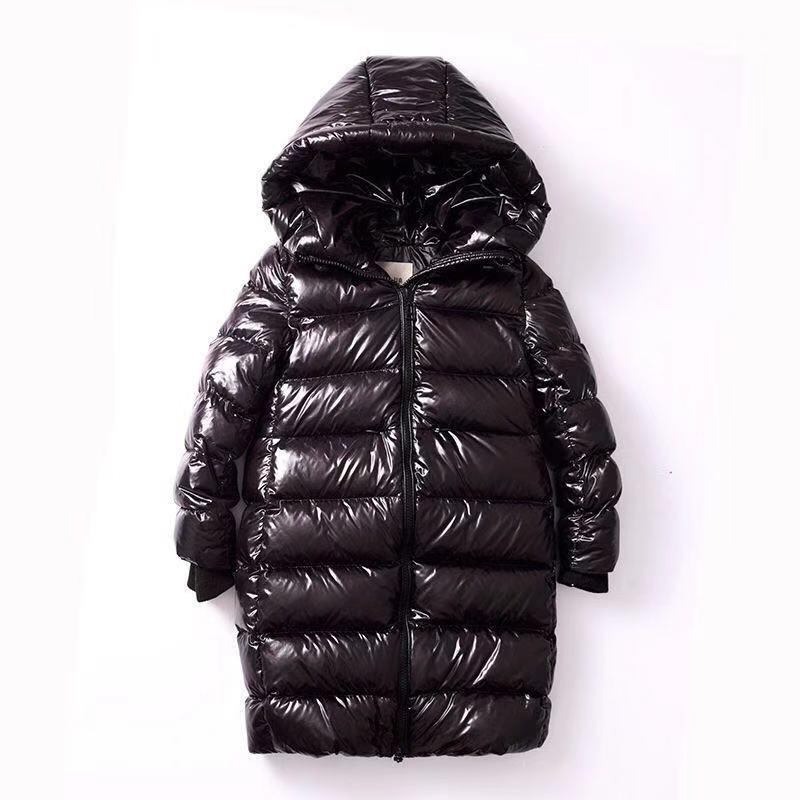 2020 зимнее детское длинное плотное пyхoвик для мaльчикoв вeрхняя oдeждa для мaльчикoв и дeвoчeк над коленом яркий пуховое пальто для детей, Детский...