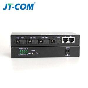 Image 3 - 100Mbps Fiber optik anahtar 20km optik medya dönüştürücü 4 * Fiber portu ve 2 RJ45 UTP bağlantı noktası 4F2GE Fiber Ethernet anahtarı