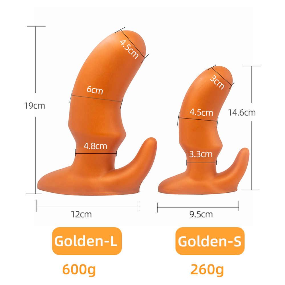 Besar Dildo Bokong Steker Besar Anal Pijat Prostat Anus Dilator Suction Cup Big Anal Plug Dewasa Erotis Mainan Seks untuk Pria Wanita
