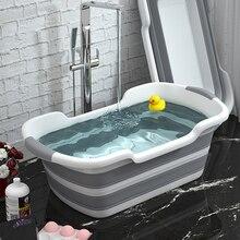 Bathtub Laundry-Basket Folding Baby Portable Silicone Non-Slip Take Pet-Dog