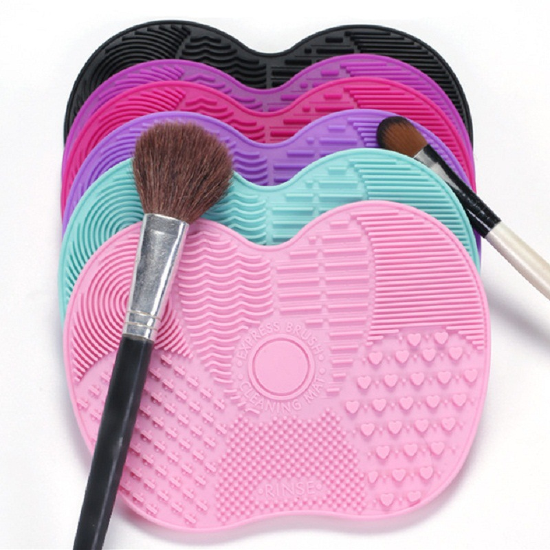 Silicone Brush Cleaner Makeup Brush Cleaner Pad Make Up Washing Brush Gel Cleaning Foundation Brush Scrubber Board