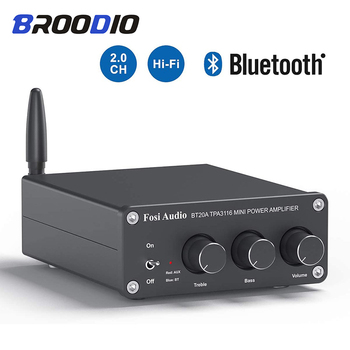 TPA3116D2 Bluetooth 5.0 Stereo Audio Amplifier Dual Channel 2*100W Receiver Mini Hi-Fi Class D Power Amplifiers For Home Speaker