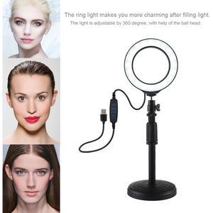 Image 2 - שולחן העבודה LED טבעת אור עבור איפור טבעת אורות עבור צילום חצובה עם מנורת עבור Vlog Youtube וידאו שידור Liveshow