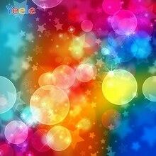 Colorful Polka Dots Light Bokeh Backdrop Newborn Baby Shower Portrait Photography Background Photo Studio Photocall Photophone