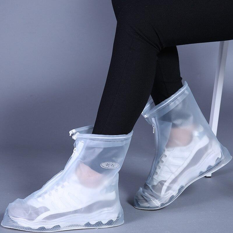 Capa de sapato de chuva impermeável para adultos e crianças