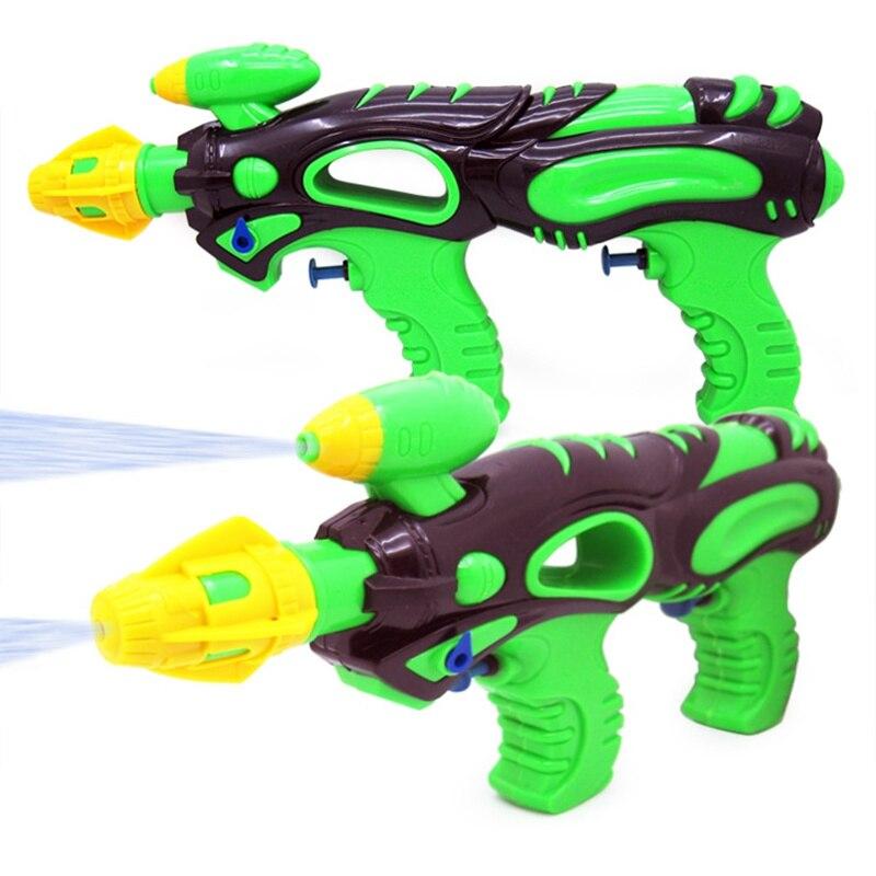 Funny Kids Outdoor Beach Summer Long Range Double Nozzle Water Gun Pistol Toys Water Gun Toy For Children Gifts