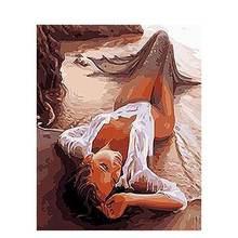 Gatyztory Рисование по номерам Женская фигурка ручная роспись