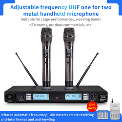 Meeting u-segment high fidelity microphone infrared automatic anti frequency 100m long-distance receiving anti-interference