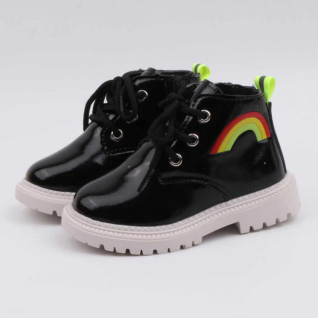 Girls Boots ChildrenKid Baby Boys Rainbow Sport Zip Short Baby Girl Boots Casual Children Shoes Kids Boots Soft Kids Shoes