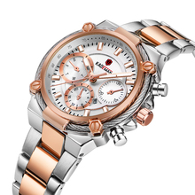 KADEMAN Ladies Watch Top Brand Trendy Design Quartz Wrist Watches Multi-Color Stainless Steel Auto Date Luxury Relojes Mujer
