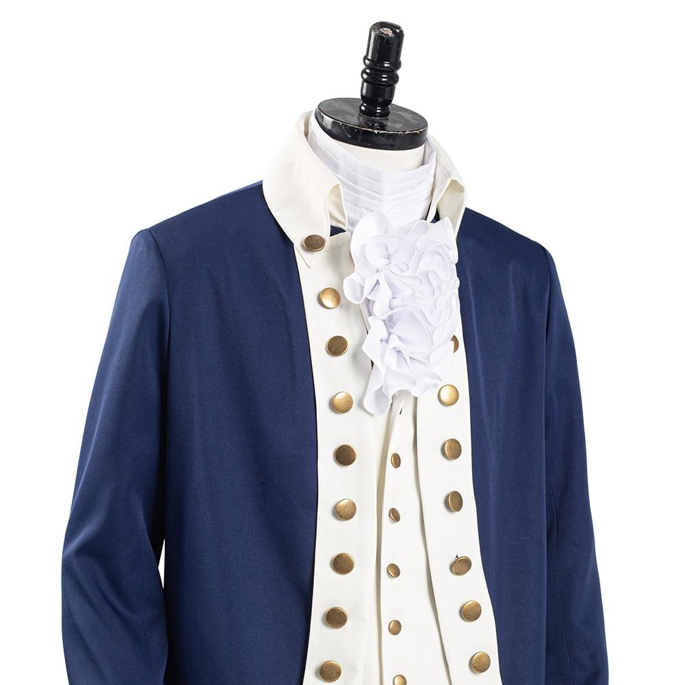 Musical hamilton alexander cosplay traje masculino uniforme