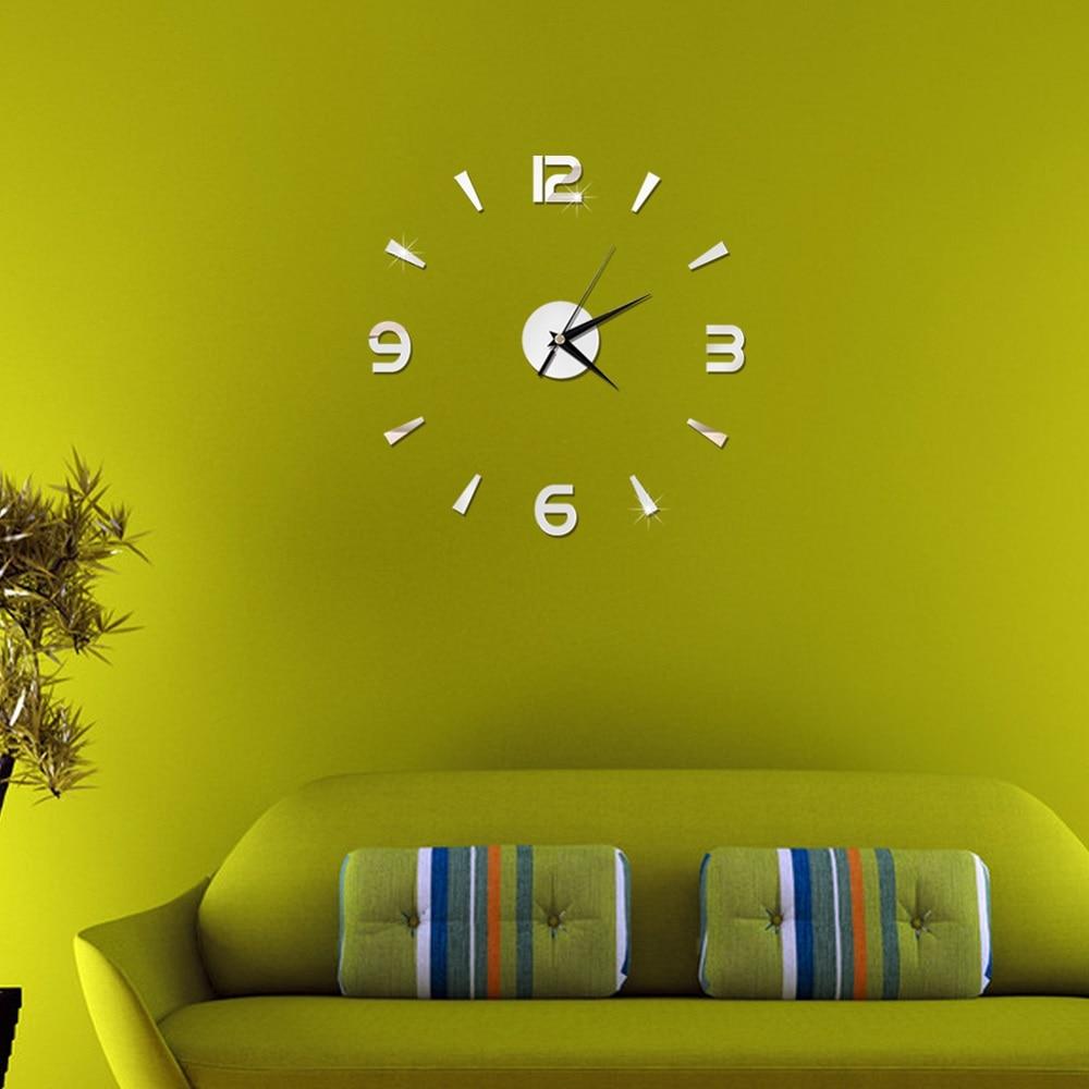 2019 New 3D Wall Clock Mirror Wall Stickers Fashion Living Room Quartz Watch DIY Home Decoration Clocks Sticker reloj de pared 3