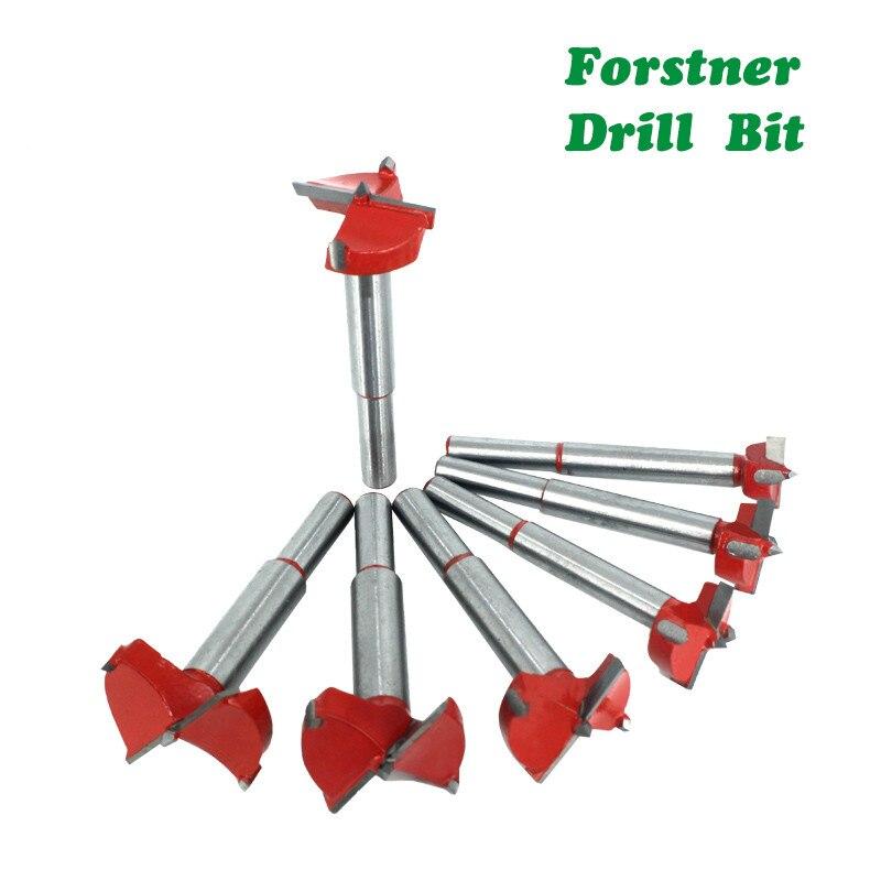 15mm-60mm Forstner Drill Bit Woodworking Hole Saw Cutter Hinge Boring Bits Woodwork Round Shank Tungsten Carbide Opener DB03060