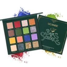 UCANBE 16 Color Glitter Matte Eyeshadow Palette Makeup Shimmer Shine Diamond Smoky Pallete Pigment Cosmetics