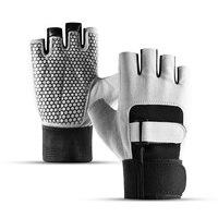 Vale a pena yoga luvas esportivas para mulheres homens ginásio de fitness não deslizamento treino musculação meia dedo mão protetor|Luvas de ciclismo| |  -