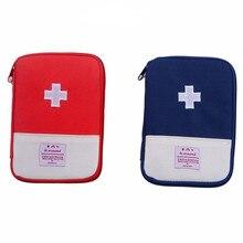 Mini kit de primeiros socorros ao ar livre saco de viagem portátil pacote de medicina kit de emergência pequeno divisor de medicina organizador de armazenamento acampamento