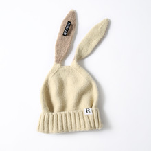 цена на Rabbit Ears Beanies Hats For Women Winter Skullies Knitted Hats Warm Caps Girls Casual Warm Hat Gorros
