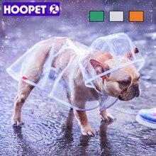 HOOPET плащ для собак, домашних животных одежда прозрачный плащ светильник одежда Водонепроницаемый дождевик для маленьких собак с капюшоном