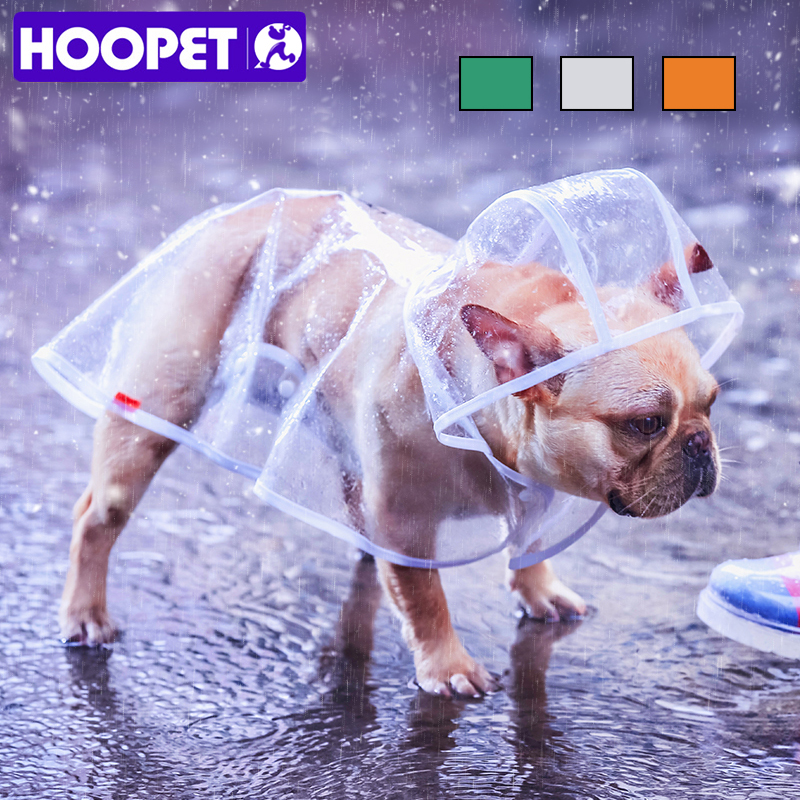 HOOPET Pet Raincoat Dog Raincoat Pet Clothes Transparent Raincoat Light Clothes Waterproof Small Dog Raincoat  With Hood