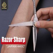 Japão 440c damasco tesouras do cabelo profissional de alta qualidade 6 polegada cabeleireiro laser lâmina corte desbaste barbeiro tesouras