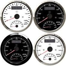 85 مللي متر دراجة نارية العالمي عالية شعاع 200MPH 125MPH لتحديد المواقع عداد السرعة مقياس سرعة الدوران 0 8000RPM جهاز إنذار تخطي السرعة عداد المسافات لاقط هوائي لاستخدامات تحديد المواقع