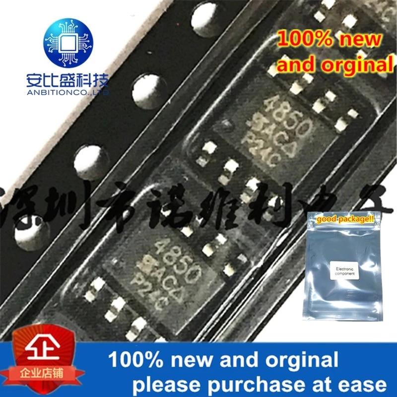 10pcs 100% New And Orginal SI4850DY-T1-E3 SOP-8 SI4850 N 4850 60V 6A MOS In Stock