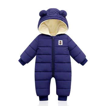 2020 baby overalls clothes Winter Plus velvet New born Infant Boys Girls Warm Thick Jumpsuit Hooded Outfits Snowsuit coat kids iyeal newborn baby snowsuit children infant winter coat warm liner hooded zipper jumpsuit boys girls duck down outwear overalls